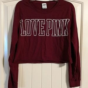 Pink by Victoria's Secret long sleeve crop tshirt